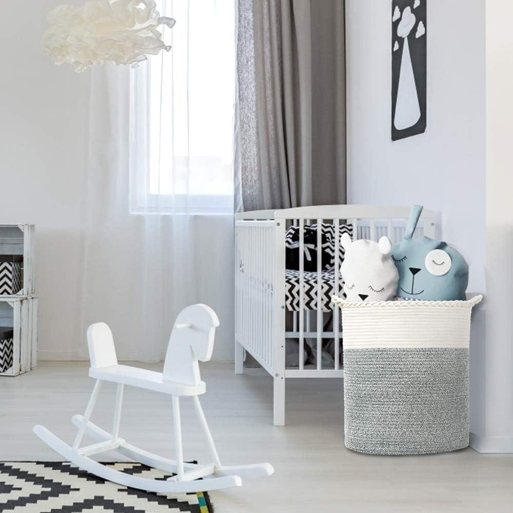 Wohnzimmer W/äschesack Jungen W/äschekorb faltbar Haus Dekoration f/ür W/äsche Spielzeug gro/ßer Aufbewahrungskorb aus Baumwollseil