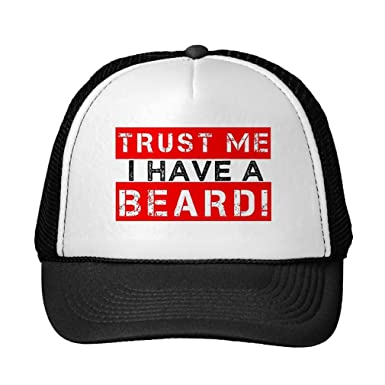 ec18d1306d6 Image Unavailable. Image not available for. Color  Custom it for you Funny Trust  Me I Have A Beard Funny Men s Hat Black