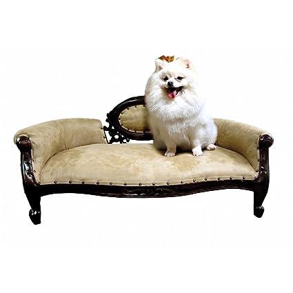 D ART COLLECTION Mahogany French Dolat Pet Sofa