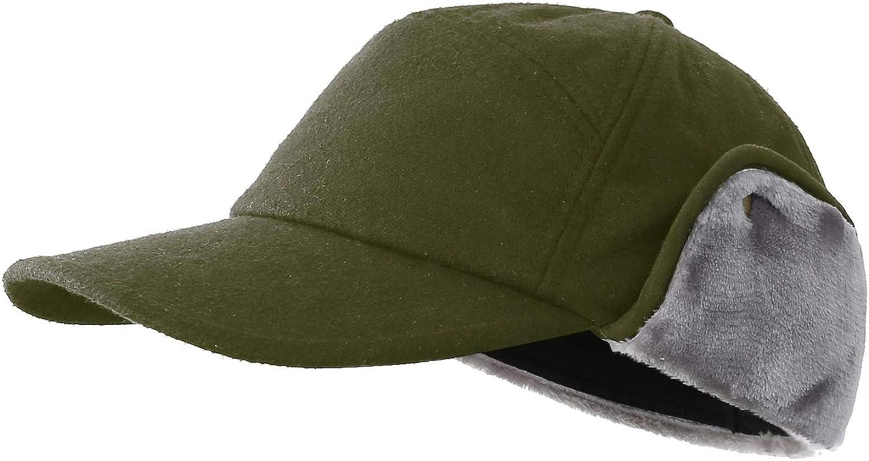 Men/'s PU Leather Winter Warm Ear Flap Army Beret Peaked Cap Newsboy Hats//Caps