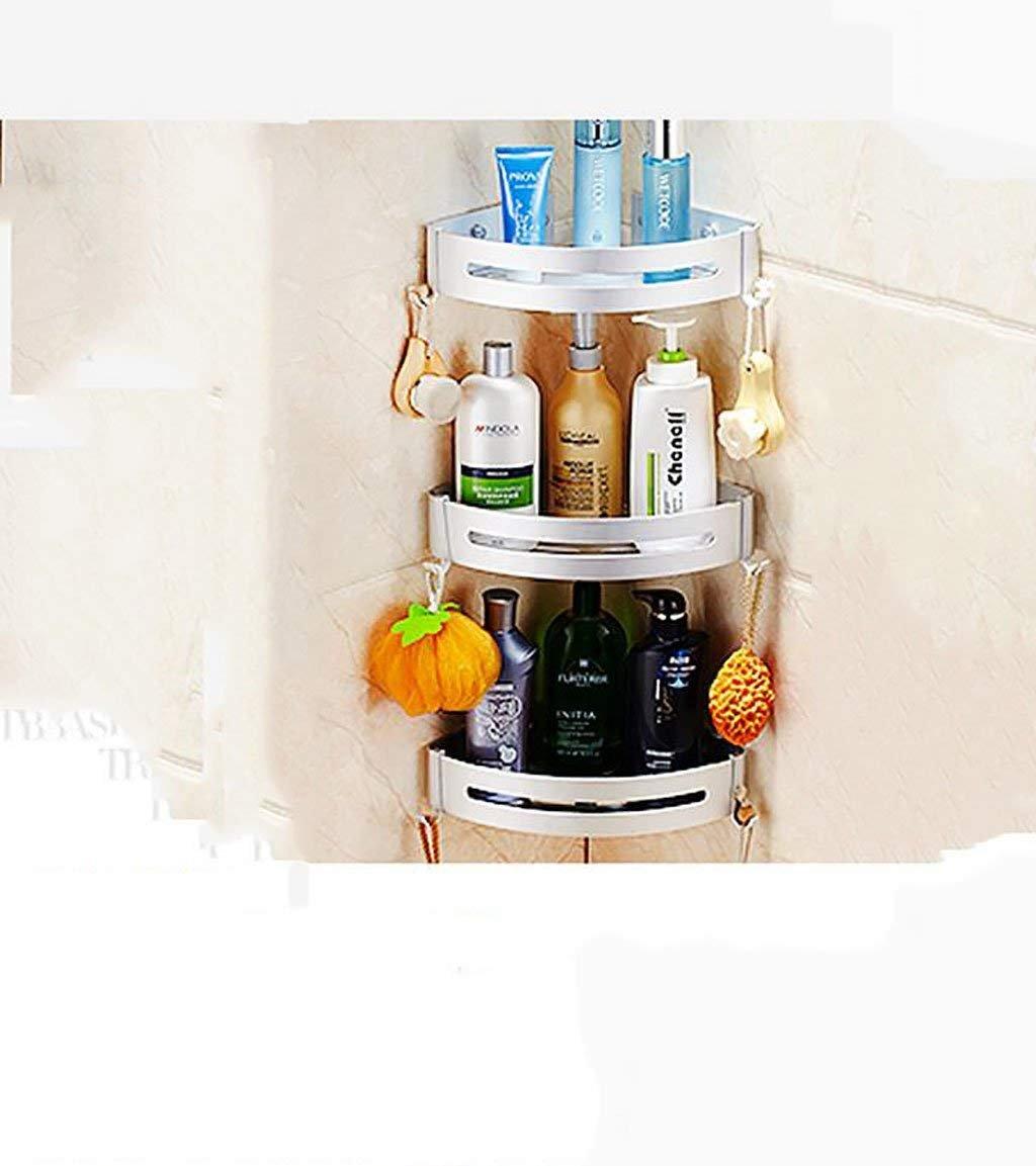 NAERFB Bathroom shelving bath rooms, rack, aluminum ADB support. single wall-layer bath rooms shower Rack Rack (Color (a)