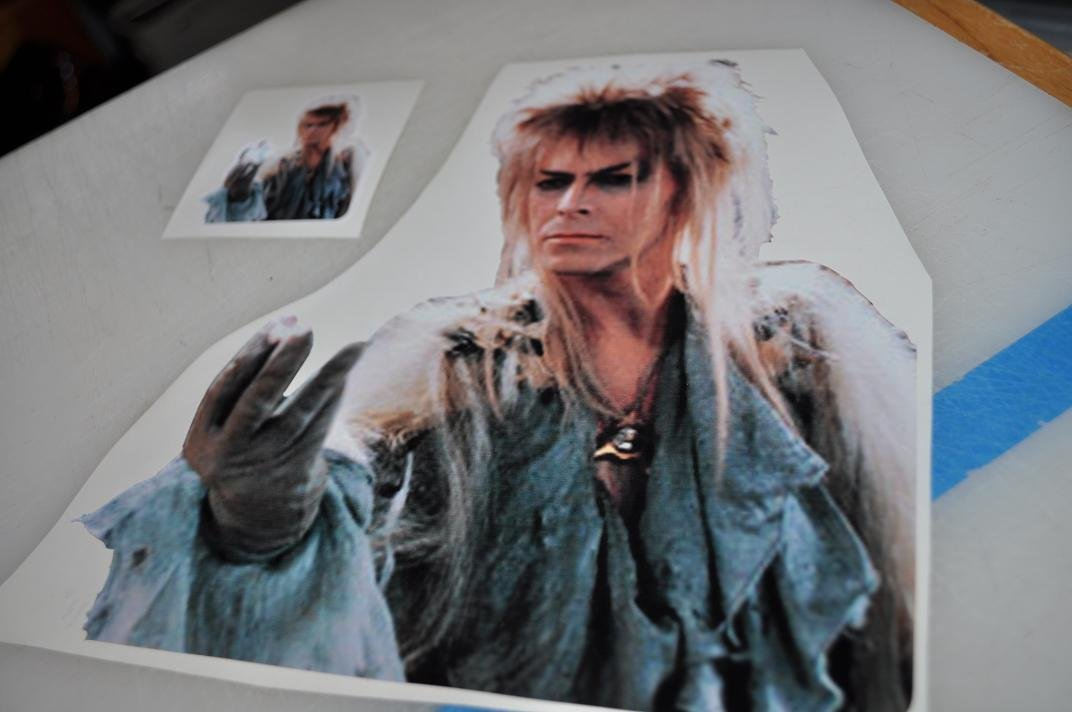 David Bowie in Labyrinth Decal for 11'' Macbook Air - glossy vinyl sticker by Stickerman (Image #1)
