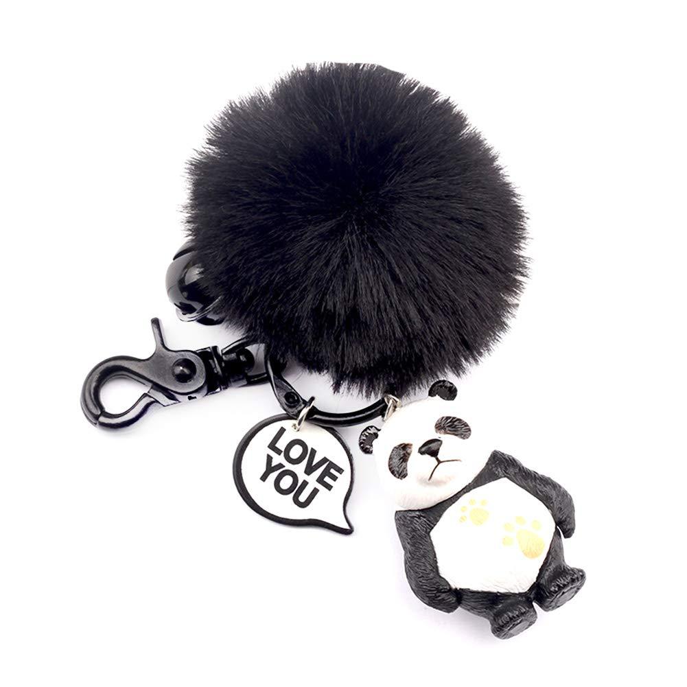 Forme De Panda Peluche Porte-cl/és Sac//t/él/éphone Portable//Porte-cl/és de Voiture Pendentif Bijoux d/écoration Fansi 1pcs Femmes Filles Dessin Anim/é Porte-cl/és