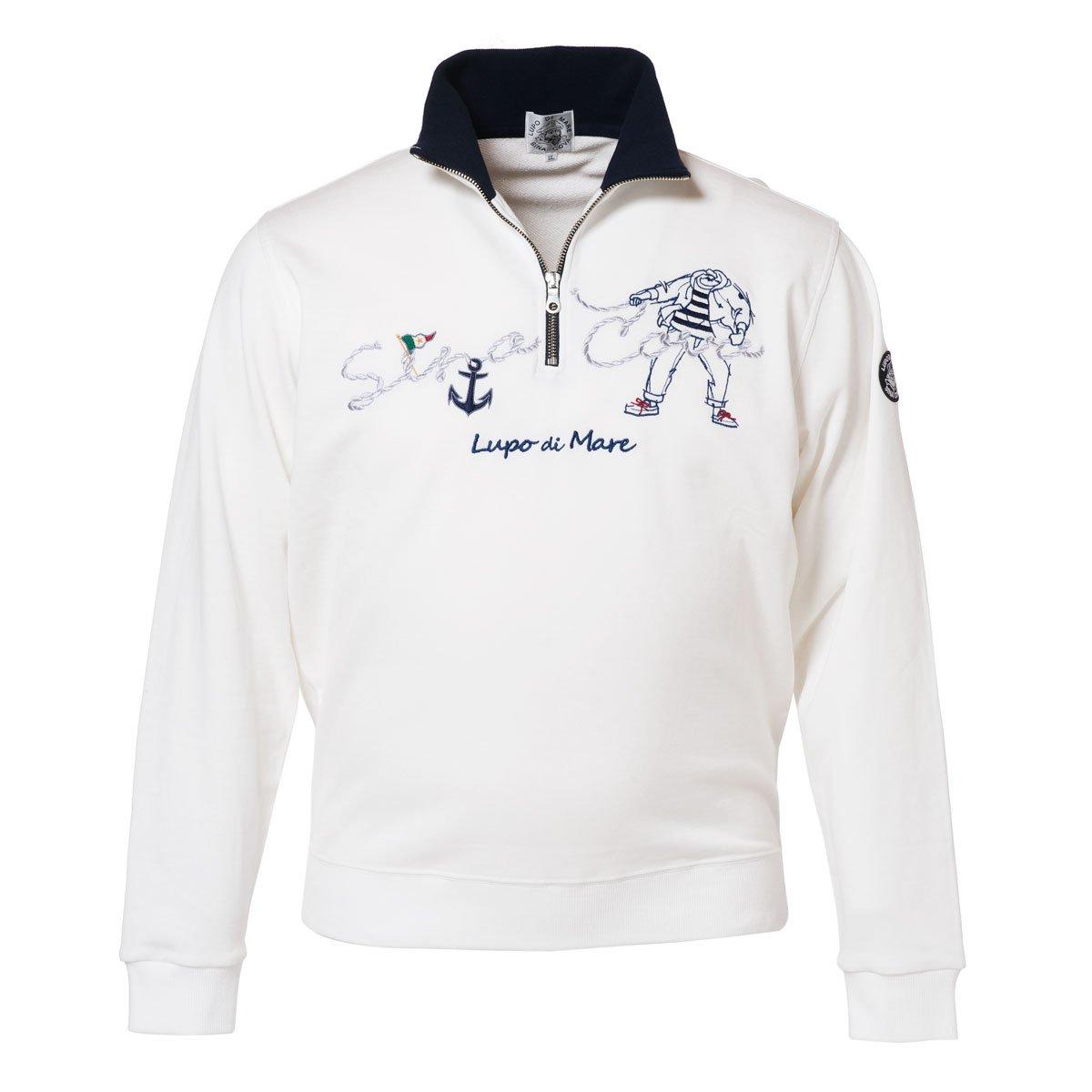 Cova SINACOVA 18120010 Men's Sweatshirt Off-White X-Large