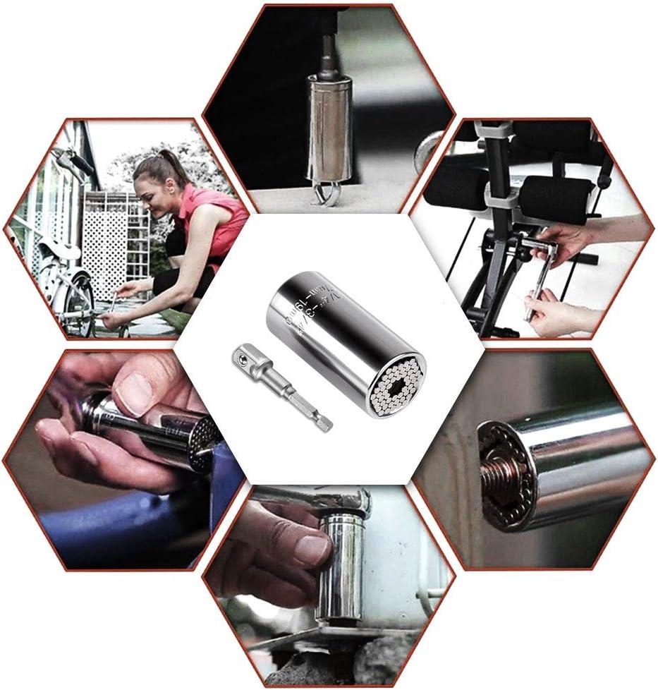 DIXIUZA Multi-Function Ratchet Socket Grip Adapter Set Fits Standard 1//4-3//4 Metric 7-19mm Repair Tools Gift for Men Women Universal Socket Wrench Set