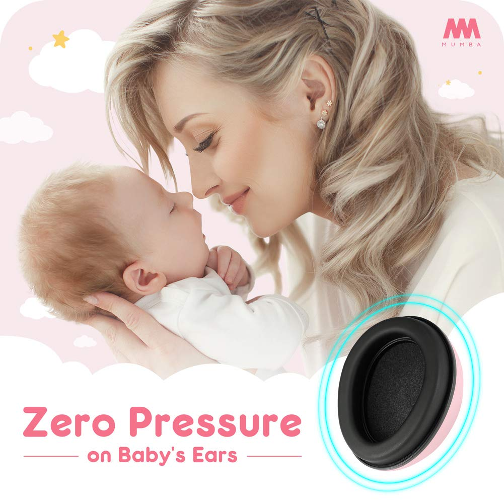 Baby Ear Protection Noise Cancelling Headphones for Babies and Toddlers - Mumba Baby Earmuffs - Ages 3-24+ Months - for Sleeping, Studying, Airplane, Concerts, Movie, Theater, Fireworks by Mumba (Image #5)