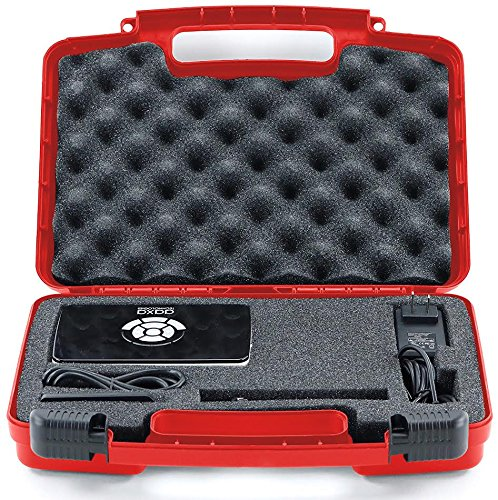 Life Made Better Storage Organizer - Compatible with AAXA P5, P300, P700, P4X, IVATION, Philips, Brookstone Portable Projectors And Accessories - Durable Carrying Case - Red by Life Made Better