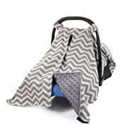 MHJY Premium Carseat Canopy Cover Nursing Cover Breathable Baby Car Cotton Canopy | Infant Car Seat Canopy Nursing Carseat Cover for Boy Girl Baby Shower Gift for Breastfeeding Moms
