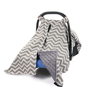 Amazon Com Mhjy Carseat Canopy Cover Nursing Cover Breathable Cotton Infant Car Seat Canopy Carseat Cover Nursing Scarf For Boy Girl Baby Shower Gift Grey Baby
