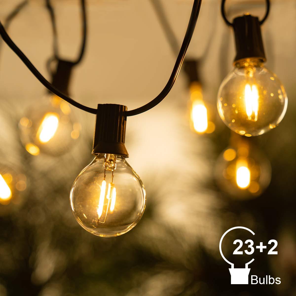 Christmas Decor Fairy String Light 30FT Patio G40  Outdoor Party Festoon Bulb