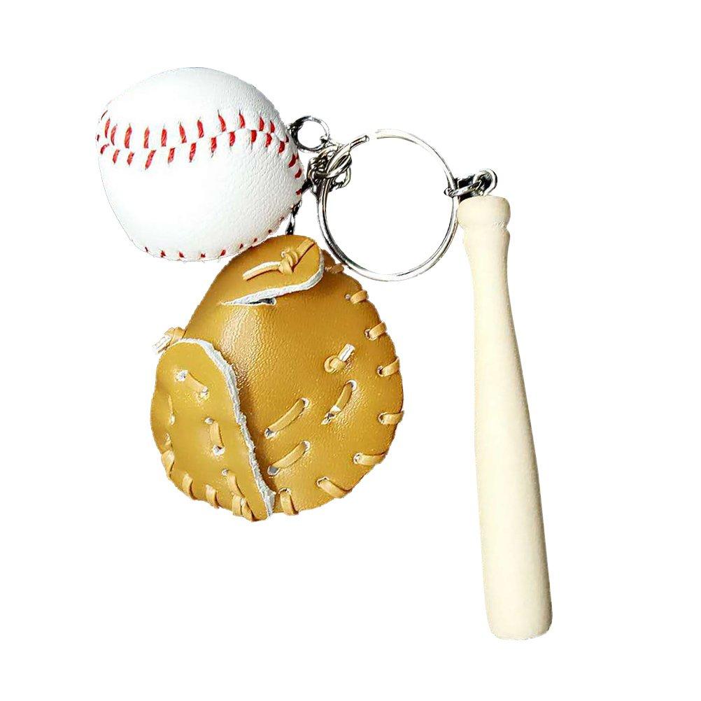 Stobok Baseball Schlusselanhanger Mit Bat Handschuh Tasche Anhanger