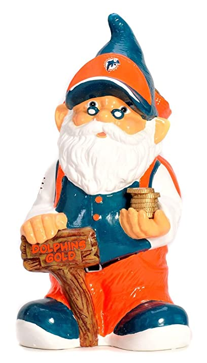 Miami Dolphins Garden Gnome   Coin Bank