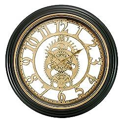 kieragrace Gears Wall Clock, 20-Inch, Bronze Finish