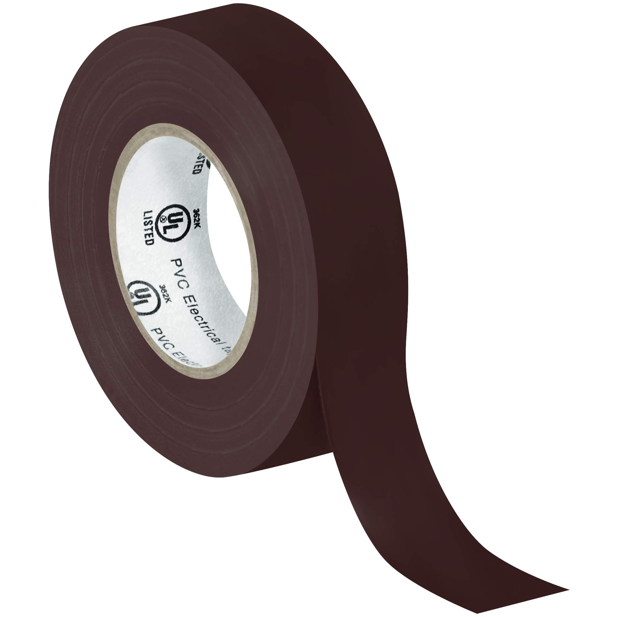 Electrical Tape, 7.0 Mil, 3/4''x 20 yds, Brown, 200/Case