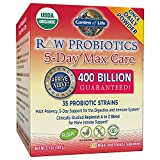 Garden of Life Organic Probiotic Supplement - Raw Probiotics 5 Day Max Care, 75g Powder