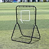 Baseball / Softball / Lacrosse Rebounder Pitch Back Training Screen | Practice Pitching, Throwing and Fielding with Adjustable Target