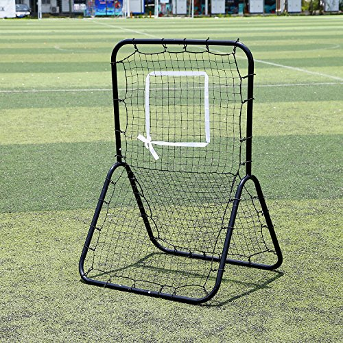 Baseball / Softball / Lacrosse Rebounder Pitch Back Training Screen | Practice Pitching, Throwing and Fielding with Adjustable Target by Ruciddy