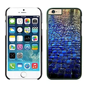 Iphone 6 Plus Case 5.5 Inches, Beautiful Blue Tiled Walkway The Stone Road Black Hard Phone Cover Case for Apple Iphone 6 Plus
