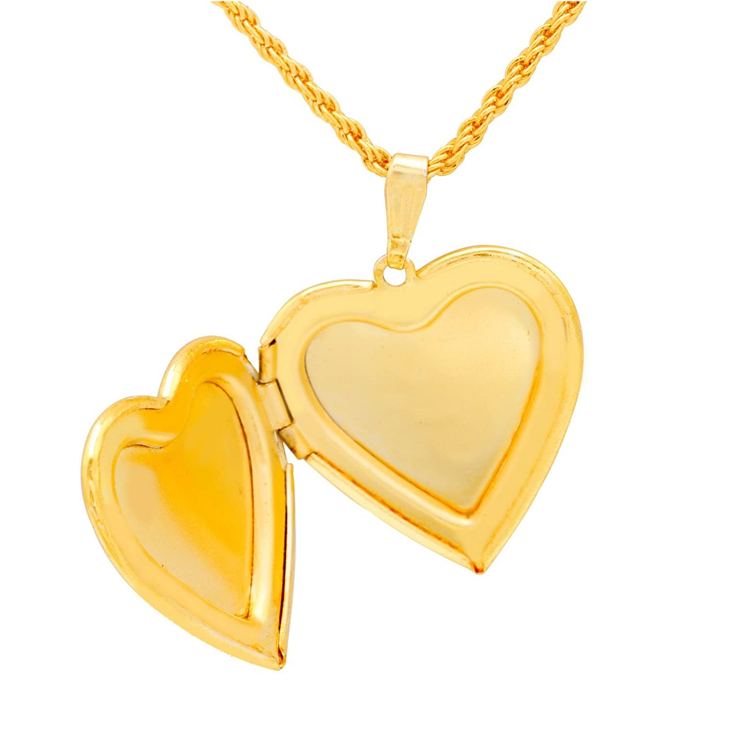 pendant jewelry locket heart necklace dp com women lockets plated amazon gold photo