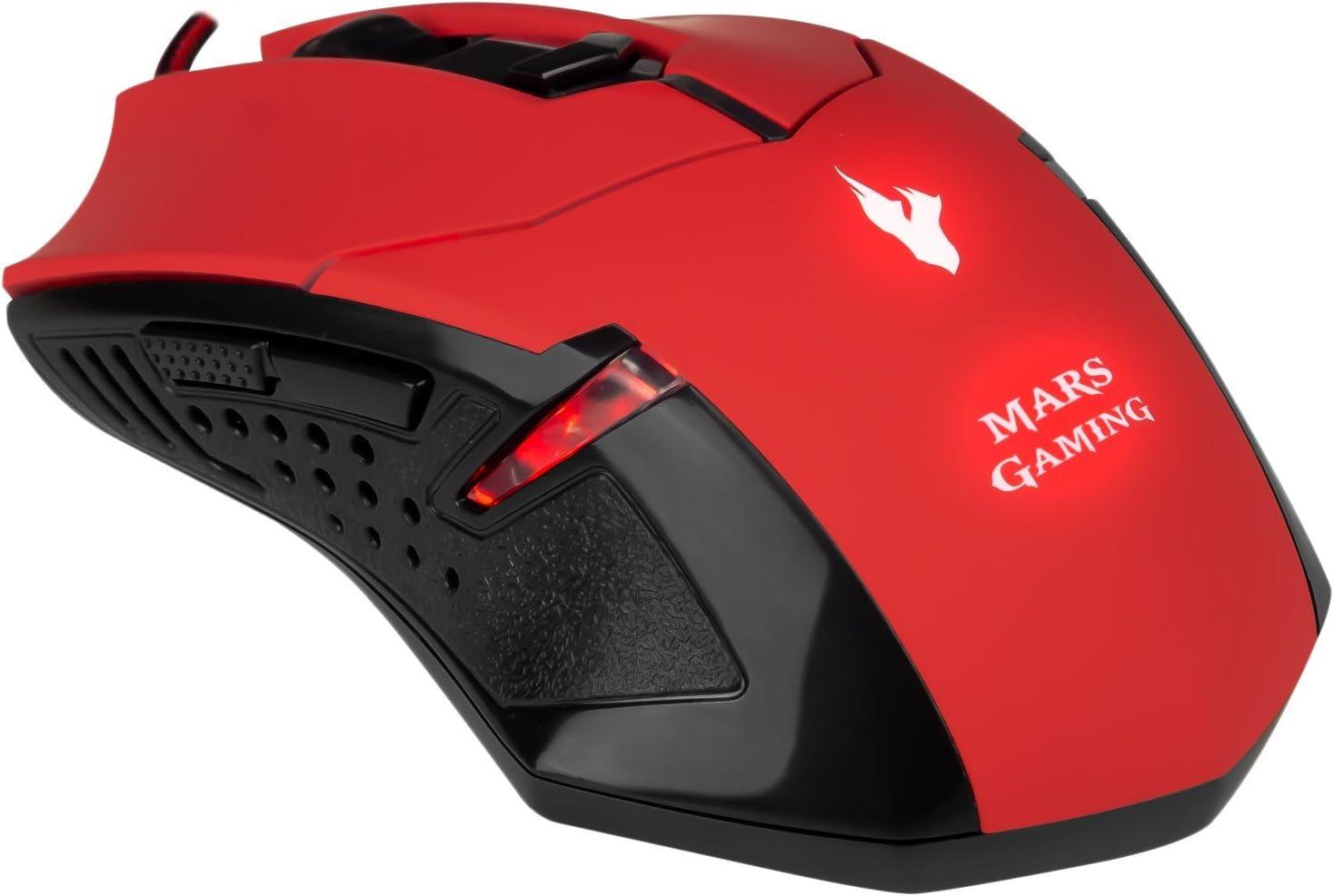 Mars Gaming MCPVU1, Pack Teclado y Ratón Gaming 2800DPI, Ambidiestro, Negro/Rojo: Mars-Gaming: Amazon.es: Informática