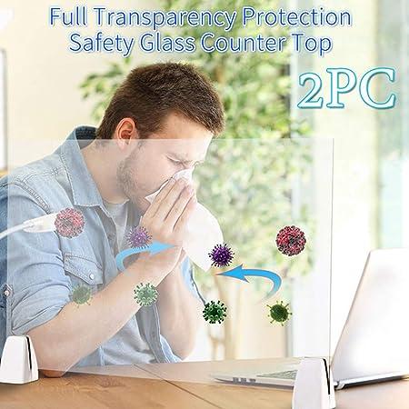 DLMYZ Mampara Transparente Anti Contagio Y Protección Separador para Mostrador, Mesas, Oficinas Y Comercios Mampara Protectora para Mostrador: Amazon.es: Hogar