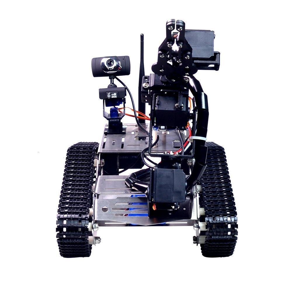 XiaoR Geek FPV Robot Car Kit with Robotic arm Hd Camera for Arduino,Utility Intelligent Tank chassis Robotics Vehicle,Smart Learning & Educational TH Robot Toys by iOS Android PC Controlled by XiaoR Geek (Image #4)