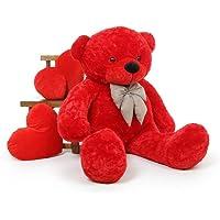 Buttercup Cotton Teddy Bear Stuffed Animal Plush Toy for Girlfriend / Children / Wife / Friends - (3 Feet, Red)