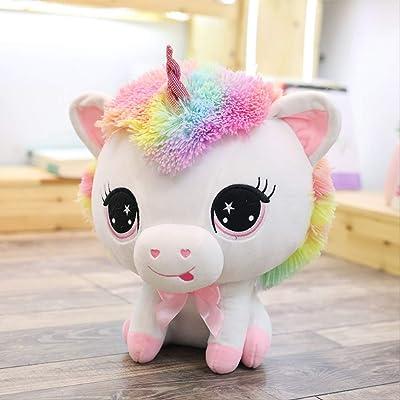 BEST9 Juguete Suave Lindo Dibujos Animados Unicornio Peluche Juguete Arco Iris Pony Pony muñecas niños bebé cumpleaños, 35 cm Rosa: Juguetes y juegos