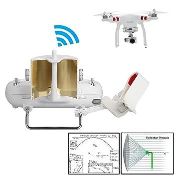 RCstyle Copper Antena Parabólica De Rango Impulsor Para DJI Phantom 3 Standard Controlador Transmisor Señal Amplificador: Amazon.es: Juguetes y juegos