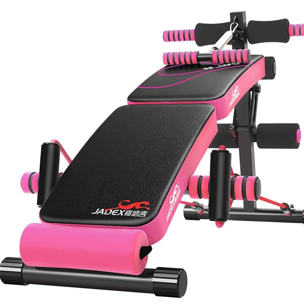 YXGH- Einstellbare bogenförmige Abnahme Sitzen Bank Crunch Board Übung Fitness Workout, multifunktionale Fitnessgeräte (Falten + Treten) Sportwaren