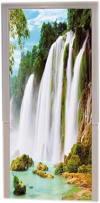 "Türposter /""Wasserfall/"" Türaufkleber Türfolie Türtapete selbstklebend Nr.18"