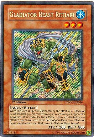YuGiOh 5D's Crossroads of Chaos Single Card Gladiator Beast Retiari CSOC-EN08...
