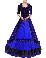 Partiss Women Lace Ruffles Gothic Victorian Fancy Lolita Dress Costumes