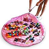 Toy Storage Bag for Lego,Toocoo Toy Play Mat Drawstring Organizer Foldable Large Tidy Kids Bag 150CM/60 Inch(Pink)