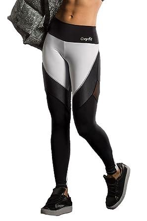 094649bea9793 OXYFIT Black & White Honeycomb Yoga Pants at Amazon Women's Clothing ...