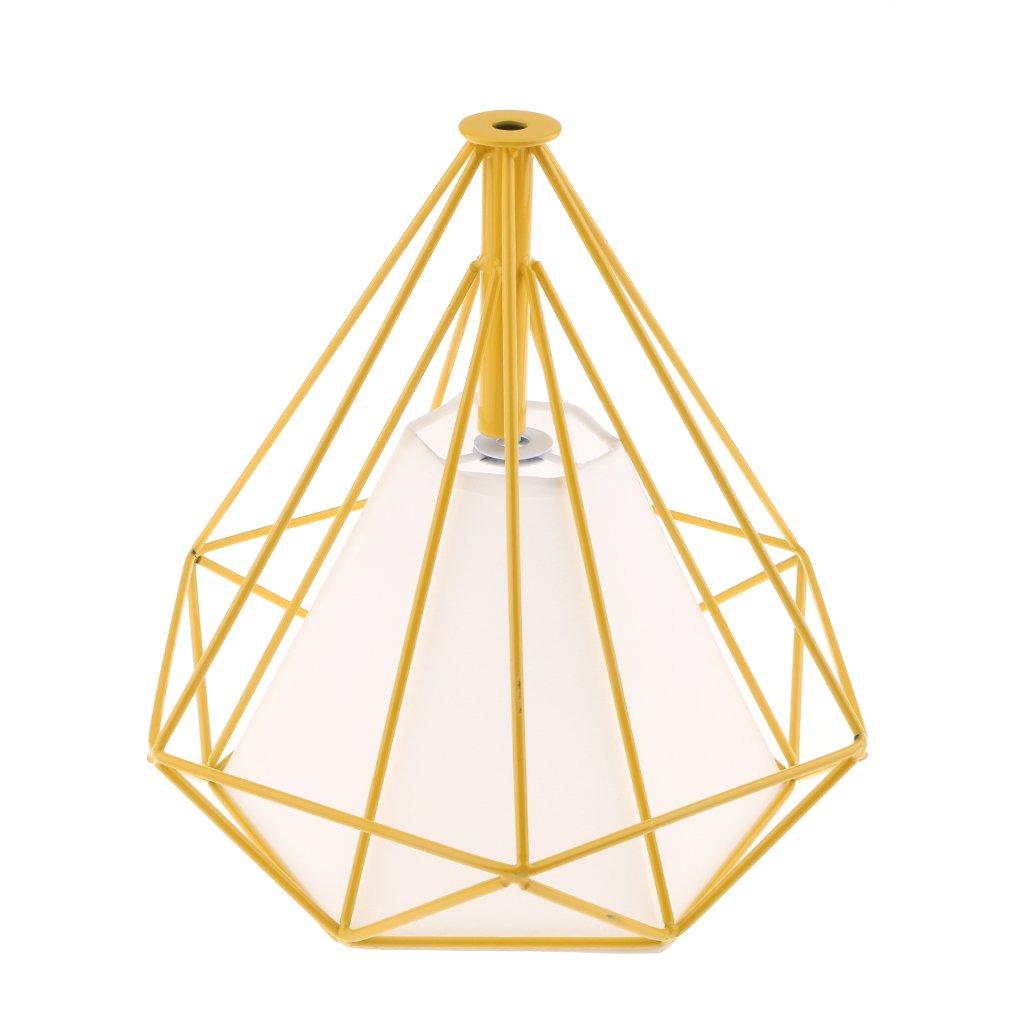 MagiDeal Abat-jour Suspension Géométrique Forme en Diamant Lampe au Plafond Décoration - Couverture blanc-blanc