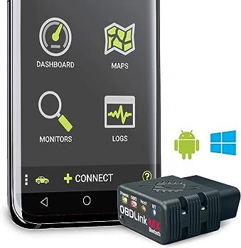 OBDLink MX links to tablet, a smartphone or computer via Bluetooth