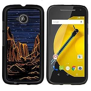 Caucho caso de Shell duro de la cubierta de accesorios de protección BY RAYDREAMMM - Motorola Moto E2 E2nd Gen - Grand Desert Noche Pintura Naranja