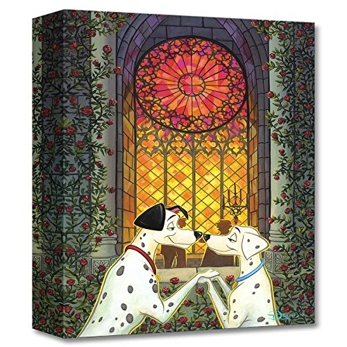 '101 Roses' Limited Edition Gallery Wrapped Canvas by Tim Rogerson from the Disney Fine Art Treasures Collection; with COA. 101 Roses Limited Edition Gallery Wrapped Canvas by Tim Rogerson from the Disney Fine Art Treasures Collection; with COA.