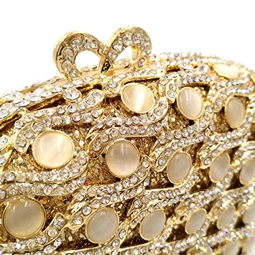 Fête Mariage à Pochette Chaîne Femme gold Maquillage Soirée Clutch Bourse Bal Sac Bandouliere Main Sac xYgHPpRwgq