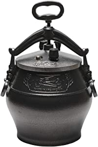 Pressure Cooker Pot Aluminum Kazan Afghan Uzbek for Camping/Hiking Trip/Camps Cauldron Kitchen Outdoor Cooking/Cooking on a gas stove/Electric Cooker Rice Cooker/Breakfast/Food for the Whole Family/Tableware for the Home/Stove/Travel Oven 6qt/6.8 L