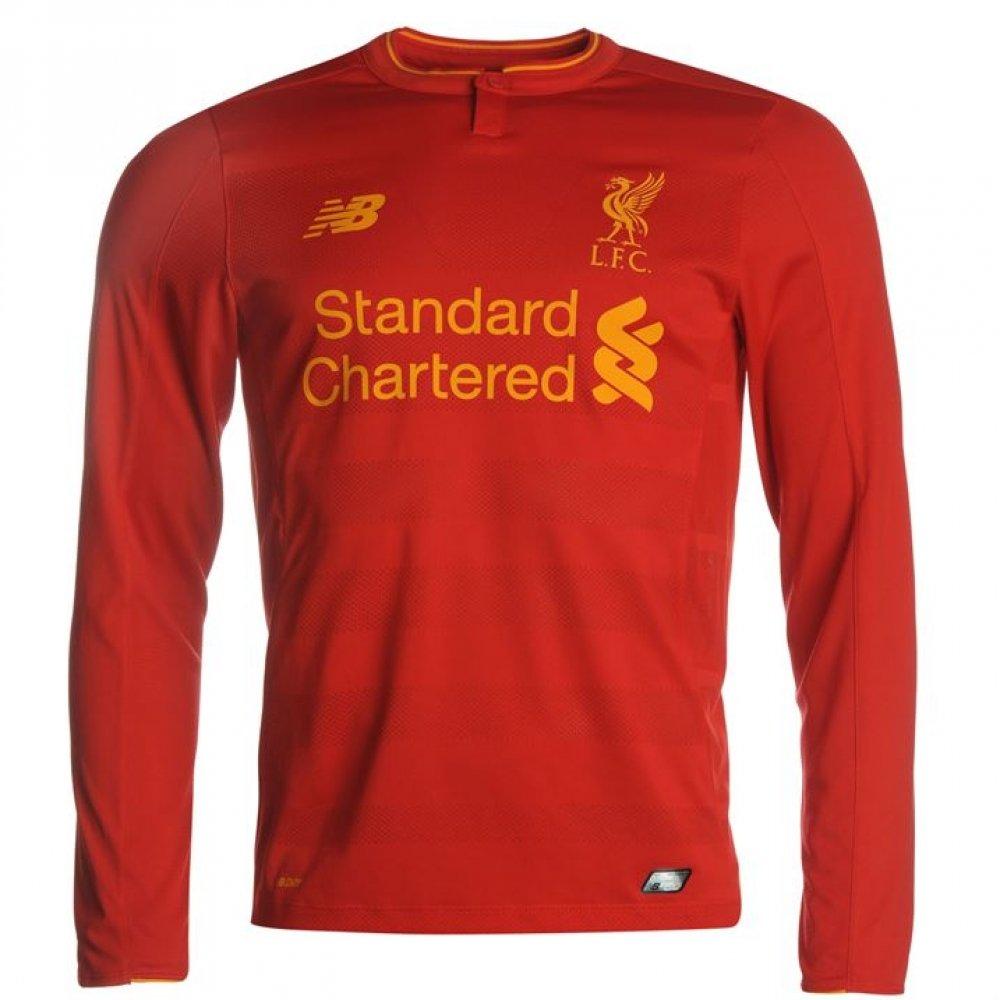 2016-2017 Liverpool Home Long Sleeve Shirt (Kids) New Balance