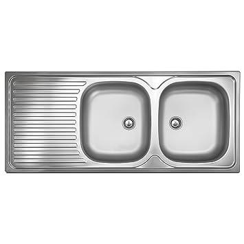 Berühmt Doppelbeckenspüle ED 500 Plus Edelstahl-Spüle 2 Becken Spülbecken JJ46