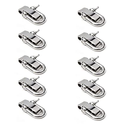 Adjustable Gun Metal Shackles for Paracord Bracelets Pack of 50