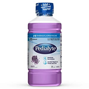 Pedialyte Oral Electrolyte Maintenance Solution, Grape Flavor, 1 Liter