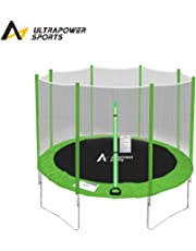 ULTRAPOWER SPORTS Trampoline with Safety Enclosure Netting and Ladder Jumping Mat Rain Cover 8ft/10ft/12ft