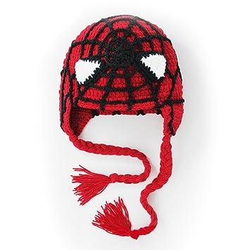 Babytoddleer Crochet Hat Spiderman Beanie Hat Hand Made With 100
