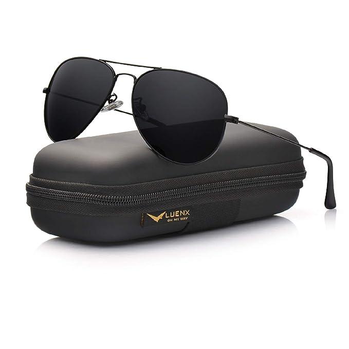 Amazon.com: LUENX gafas de sol estilo aviador polarizadas ...