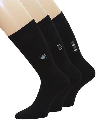 6 pares de calcetines diabéticos Señor Calcetines sin goma negro alto Porcentaje de algodón: Amazon.es: Ropa y accesorios