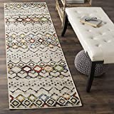 Safavieh Amsterdam Collection AMS108K Southwestern Bohemian Ivory and Multi Runner (2'3'' x 8')